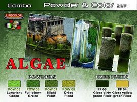 Lifecolor Algae Powder & Color Acrylic Paint (6 22ml Bottles) Hobby and Model Paint Set #spg7