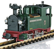 LGB Digital SOEG Saxon cl IK Steam Locomotive in Wooden Case - G-Scale