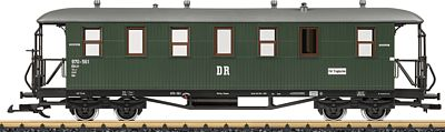 LGB DR 2-Car German State Railroad DRG Wood Passenger Set -- G Scale Model Train Passenger Set -- #31352
