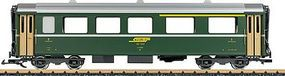 LGB 1st/2nd Class Rhaetian Railways RhB #B 246 G Scale Model Train Passenger Car #31678