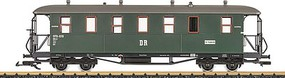 LGB 3rd Class Passenger Car - Ready to Run German State Railroad DR (Era III, green, gray) - G-Scale