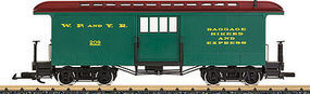 LGB White Pass Baggage Car G Scale Model Train Passenger Car #36846
