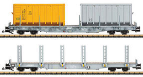 LGB RhB Stake Car Set G-Scale
