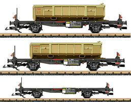 LGB Container 3-Car Set RhB - G-Scale