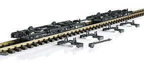 LGB Type Rf4 Roll Car for Moving Standard Gauge Equipment 2-Pack - Ready to Run German State Railways DR (black) - G-Scale