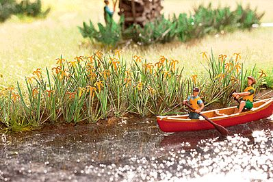 Life-Like Water Lilies SceneMaster Botanicals Kit -- Model Railroad Grass Earth -- HO Scale -- #1077