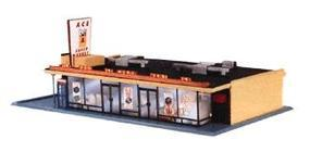 Life-Like Ace Super Market Kit Model Train Building HO Scale #1330