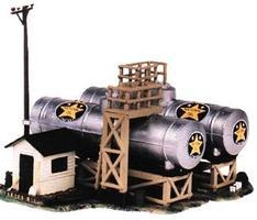 Life-Like National Oil Co. Kit Model Train Building HO Scale #1331
