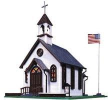 Town Church Kit Model Train Building HO Scale #1350