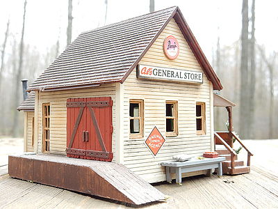 Life-Like General Store Kit -- Model Train Building -- HO Scale -- #1351