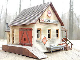 Life-Like General Store Kit Model Train Building HO Scale #1351