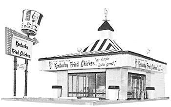 Life-Like Kentucky Fried Chicken(R) Drive In Kit -- Model Train Building -- HO Scale -- #1394