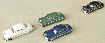 Life-Like 1950s Era Coupe 4-Pack - Assembled - HO-Scale (4)