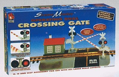 Life-Like Crossing Gates -- Operating Crossing Gates w/Lights & Bell - G-Scale
