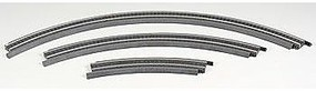 Life-Like (bulk of 50) Bulk of 50 Power-Loc(tm) Track Steel 18 Radius Model Train Track HO Scale #21177