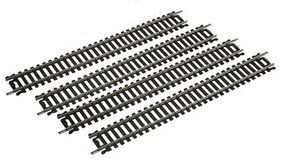 Life-Like 9 Straight Track (4) Code 100 Nickel Silver Model Train Track HO Scale #3001