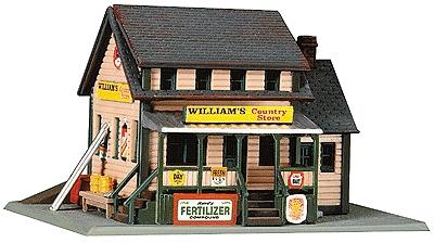 Life-Like William's Country Store Kit -- Model Railroad Building -- N Scale -- #7463
