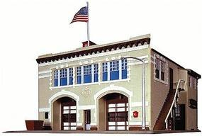 Life-Like Volunteer Fire Company Kit Model Railroad Building N Scale #7483