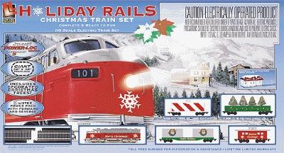 Life-Like Holiday Rail -- Model Train Set -- HO Scale -- #8198