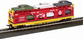 Life-Like 50 Bi-Level Auto Carrier ATSF Model Train Freight Car HO Scale #8303