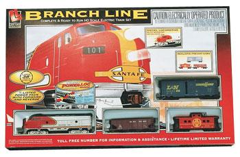 Life-Like Diesel Freight Branch Line Santa Fe -- Model Train Set -- HO Scale -- #8607