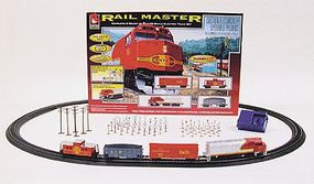 Life-Like Rail Master Train Santa Fe Model Train Set HO Scale #8608