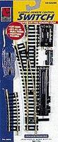 Life-Like Code 100 Remote Control Steel Turnout Left Hand Model Train Track HO Scale #8611