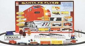 Life-Like Santa Fe Flyer Model Train Set HO Scale #8660