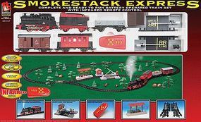 Life-Like Smoke Stack Express Battery Powered Steam Freight Model Train Set HO Scale #8851