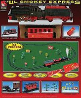Life-Like Lil Smokey Express Battery Powered Steam Passenger Model Train Set HO Scale #8854