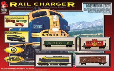 Life-Like Rail Charger Model Train Set HO Scale #8886