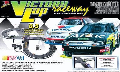Life-Like Life-Like Racing Roadracing Set -- Victory Lap Raceway - Aflac #99 & Valvoline #17 - HO-Scale