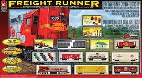 Life-Like Freight Runner Model Train Set HO Scale #9100