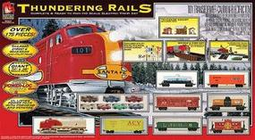 Life-Like Thundering Rails Santa Fe Model Train Set HO Scale #9102