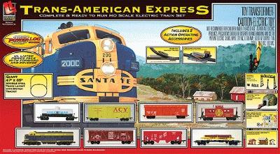 Life-Like Trans America Express Santa Fe -- Model Train Set -- HO Scale -- #9103
