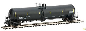 Life-Like-Proto 55 Trinity 30,145-Gallon Tank Car - Ready to Run BRCX #10132 (black, yellow Conspicuity Marks)