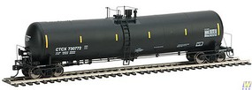 Life-Like-Proto 55 Trinity 30,145-Gallon Tank Car - Ready to Run CTCX #730772 (black, yellow Conspicuity Marks)