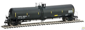 Life-Like-Proto 55 Trinity 30,145-Gallon Tank Car - Ready to Run NATX #302813 (black, yellow Conspicuity Marks)
