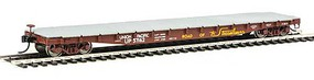 53' AAR Flatcar - Ready to Run Union Pacific(R) #57162 (Boxcar Red, yellow, white, Serves all the West Slog
