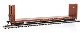 Life-Like-Proto 50 CC&F Bulkhead Flatcar - Ready to Run Canadian National #603165 (brown)