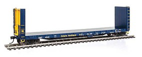 Life-Like-Proto 50 CC&F Bulkhead Flatcar - Ready to Run Ontario Northland #4542 (blue, yellow)