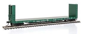 Life-Like-Proto 50 CC&F Bulkhead Flatcar - Ready to Run Ontario Northland #4537 (green)