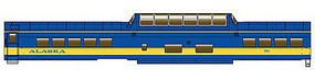 Life-Like-Proto 85 ACF Dome-Coach Alaska Railroad (1999 Scheme) HO Scale #11501