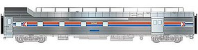 Life-Like-Proto 85 PS Baggage-Dormitory Transition Car Amtrak HO Scale Model Train Passenger Car #13341