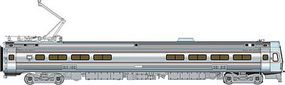 Life-Like-Proto Budd Metroliner EMU Snack Bar Coach Penn Central HO Scale Model Train Passenger Car #13803