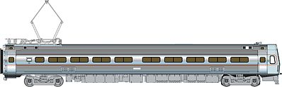 Life-Like PROTO Budd Metroliner EMU Coach Penn Central/Amtrak -- HO Scale Model Train Passenger Car -- #13843