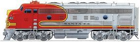 Life-Like-Proto EMD F7A w/48 Dynamic Fan Fan Santa Fe HO Scale Model Train Diesel Locomotive #40699
