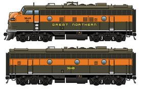 Life-Like-Proto EMD F7A-B Set Great Northern #364A, 364B HO Scale Model Train Diesel Locomotive #40706