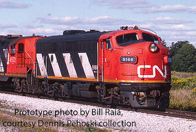 Life-Like-Proto EMD F7A-B Set Canadian National #9159, 9195 HO Scale Model Train Diesel Locomotive #40909