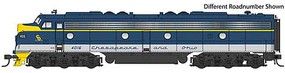 Life-Like-Proto EMD E8A - LokSound Select DCC & Sound Chesapeake & Ohio #4012 (blue, gray, yellow)